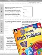 Number and Operations with Fractions Leveled Problems: Cre
