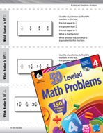 Number and Operations with Fractions Leveled Problems: Equ