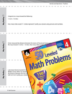 Number and Operations with Fractions Leveled Problems: Map
