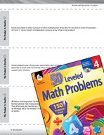 Number and Operations with Fractions Leveled Problems: Mul