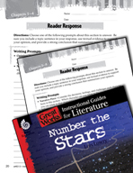 Number the Stars Reader Response Writing Prompts (Great Wo