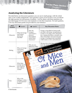 Of Mice and Men Leveled Comprehension Questions (Great Wor
