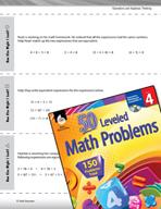 Operations and Algebraic Thinking Leveled Problems: Equiva