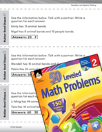 Operations and Algebraic Thinking Leveled Problems: Guess
