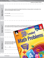 Operations and Algebraic Thinking Leveled Problems: Number