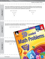 Operations and Algebraic Thinking Leveled Problems: The Or