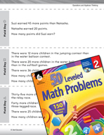 Operations and Algebraic Thinking Leveled Problems:  Word