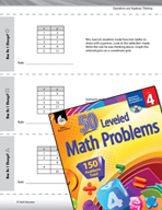 Operations and Algebraic Thinking Leveled Problems: X and