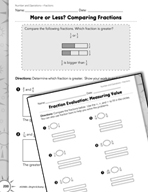 Operations with Fractions: Comparing Fractions Practice