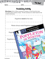Poppleton in Winter Vocabulary Activities (Great Works Series)