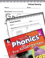 Pre-Kindergarten Foundational Phonics Skills: Primary Sound g