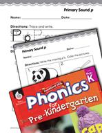 Pre-Kindergarten Foundational Phonics Skills: Primary Sound p