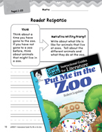 Put Me in the Zoo Reader Response Writing Prompts (Great W