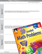 Ratios and Proportional Relationships Leveled Problems: Eq