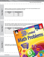 Ratios and Proportional Relationships Leveled Problems: Pe