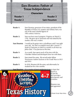 Reader's Theater Texas: Sam Houston - Father of Texas Inde