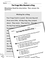 Reading Literature: Read the Story Practice
