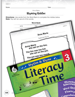 Rhythm and Rhyme Literacy Time: Activities for Anna Maria