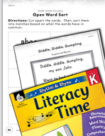 Rhythm and Rhyme Literacy Time: Activities for Diddle, Did
