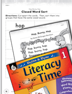 Rhythm and Rhyme Literacy Time: Activities for Hop, Bunny, Hop