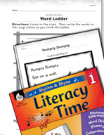 Rhythm and Rhyme Literacy Time: Activities for Humpty Dumpty