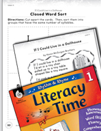Rhythm and Rhyme Literacy Time: Activities for If I Could