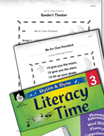 Rhythm and Rhyme Literacy Time: Activities for Me for Clas