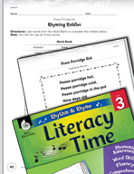 Rhythm and Rhyme Literacy Time: Activities for Pease Porridge Hot