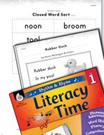 Rhythm and Rhyme Literacy Time: Activities for Rubber Duck
