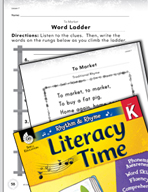 Rhythm and Rhyme Literacy Time: Activities for To Market