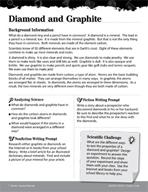 Rocks and Minerals Inquiry Card - Diamond and Graphite