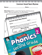 Second Grade Foundational Phonics Skills: Common Vowel Tea
