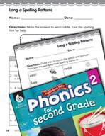 Second Grade Foundational Phonics Skills: Long Vowel Spell