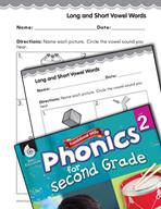 Second Grade Foundational Phonics Skills: Long and Short V
