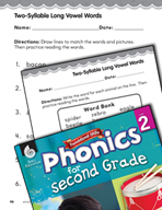 Second Grade Foundational Phonics Skills: Two-Syllable Lon