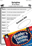 Springtime Reader's Theater Script and Lesson
