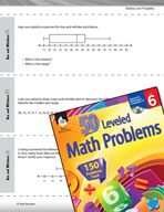 Statistics and Probability Leveled Problems: Box and Whisk