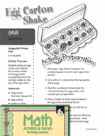 Subtracting - Egg Carton Shake Game