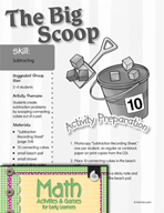 Subtracting - The Big Scoop Activity