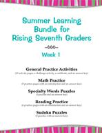 Summer Learning Bundle for Rising Seventh Graders - Week 1