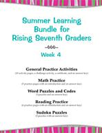 Summer Learning Bundle for Rising Seventh Graders - Week 4