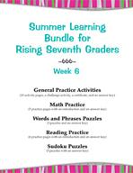 Summer Learning Bundle for Rising Seventh Graders - Week 6
