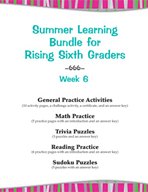 Summer Learning Bundle for Rising Sixth Graders - Week 6