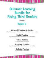 Summer Learning Bundle for Rising Third Graders - Week 6