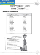 Syllable Awareness: Blending Syllables into Words - Have Y