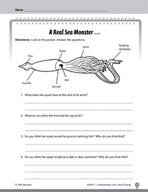 Test Prep Level 1: A Real Sea Monster Comprehension and Cr