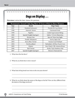 Test Prep Level 3: Dogs on Display Comprehension and Criti