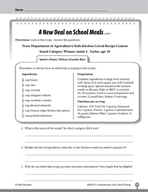 Test Prep Level 3: School Meals Comprehension and Critical