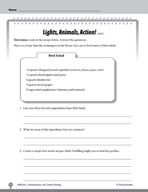 Test Prep Level 4: Lights, Animals, Action! Comprehension