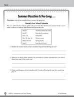 Test Prep Level 4: Summer Vacation Comprehension and Criti